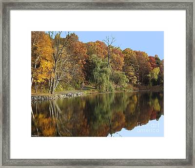 Framed Print featuring the photograph Autumn Reflections by Bill Woodstock