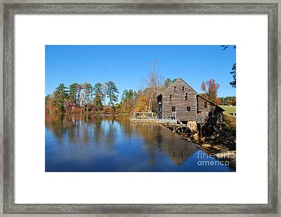Autumn Reflections At Yates Mill Framed Print by Bob Sample