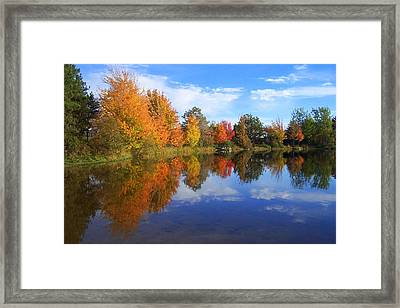 Autumn Reflections Framed Print by Brian Chase