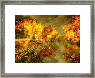 Autumn Reflections Framed Print by Carlotta Ceawlin