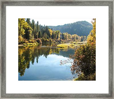Autumn Reflections Framed Print by Curtis Stein