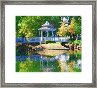 Framed Print featuring the photograph Autumn Reflections by Diane Miller