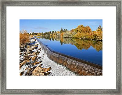 Autumn Reflections Framed Print by Donna Kennedy