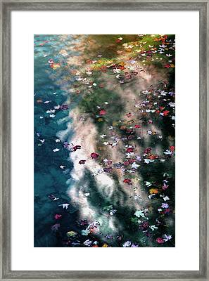 Framed Print featuring the photograph Autumn Reflections by Jim Vance