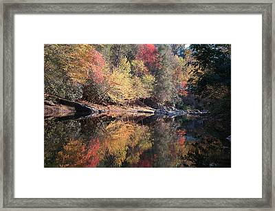 Autumn Reflections Framed Print by John Saunders