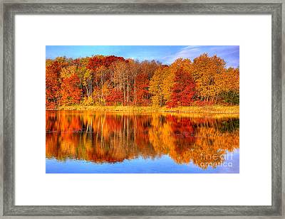 Autumn Reflections Minnesota Autumn Framed Print