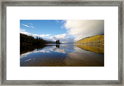 Framed Print featuring the photograph Autumn Reflections On Loch Tay by Stephen Taylor