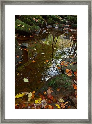 Autumn Reflections Padley Gorge Framed Print