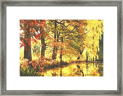 Autumn Reflections Framed Print by Sophia Schmierer