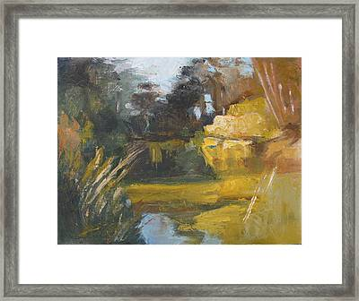 Autumn Reflections Stowe Lake Framed Print