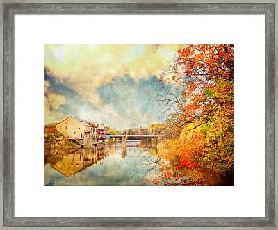 Autumn Reflections Framed Print by Tracy Munson