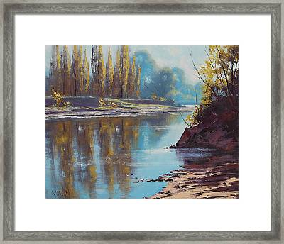 Autumn Reflections Tumut River Framed Print by Graham Gercken