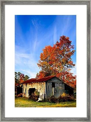 Autumn Remembered In North Georgia Framed Print by Mark E Tisdale