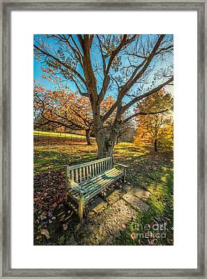 Autumn Rest Framed Print by Adrian Evans
