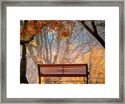 Framed Print featuring the photograph Autumn Retreat by France Laliberte