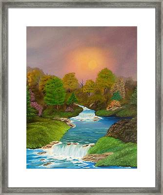Autumn Retreat Framed Print by Sheri Keith