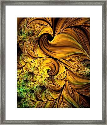 Autumn Returns Abstract Framed Print by Georgiana Romanovna