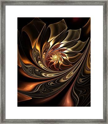 Autumn Reverie Abstract Framed Print by Georgiana Romanovna