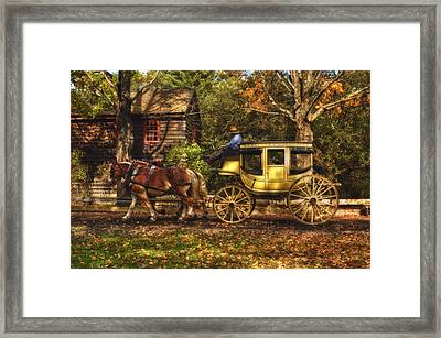 Autumn Ride Framed Print by Joann Vitali