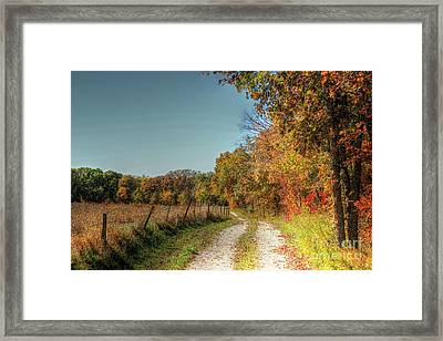 Autumn Ridge Framed Print