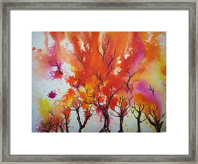 Autumn Riot Framed Print