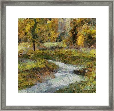 Autumn Rippling Framed Print by Dragica  Micki Fortuna