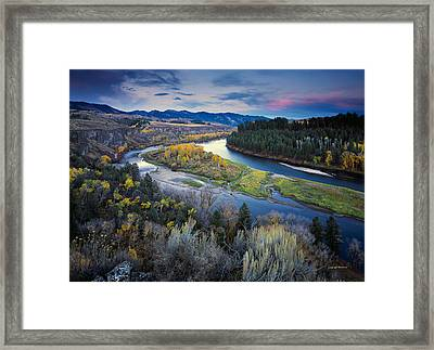 Autumn River Framed Print by Leland D Howard
