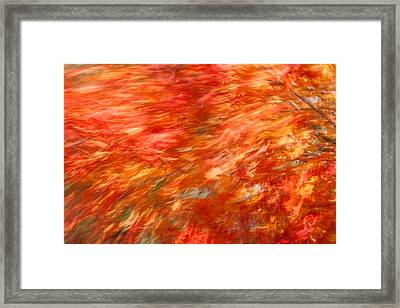 Framed Print featuring the photograph Autumn River Of Flame by Jeff Folger