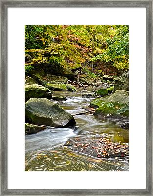 Autumn River Framed Print by Frozen in Time Fine Art Photography