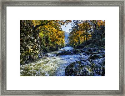 Autumn River Valley Framed Print by Ian Mitchell