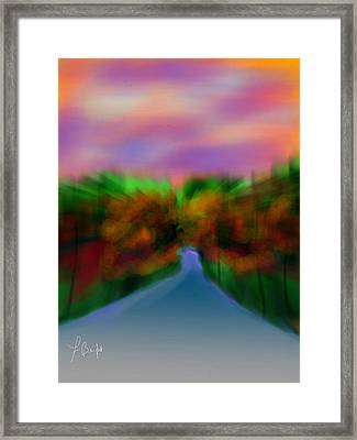 Autumn Road Framed Print by Frank Bright