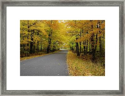 Autumn Road Framed Print by Hans Castleberg