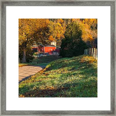 Autumn Road Morning Square Framed Print by Bill Wakeley