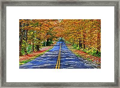 Autumn Road Oneida County Ny Framed Print by Diane E Berry