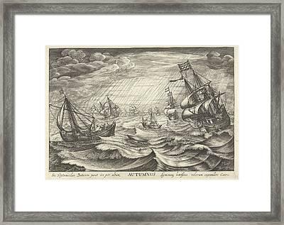 Autumn, Robert De Baudous Framed Print by Robert De Baudous And Cornelis Claesz. Van Wieringen And Johannes Janssonius