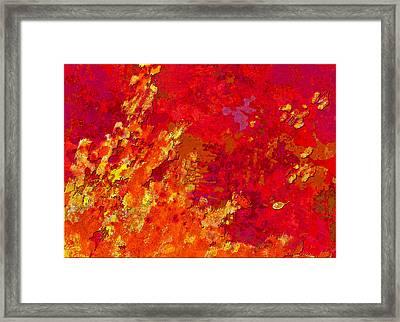 Autumn Romance I Framed Print by Mathilde Vhargon