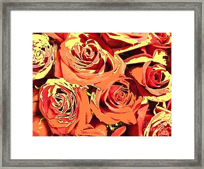 Framed Print featuring the photograph Autumn Roses On Your Wall by Joseph Baril