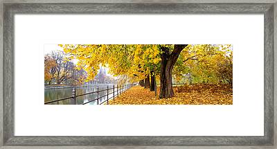 Autumn Scene Munich Germany Framed Print