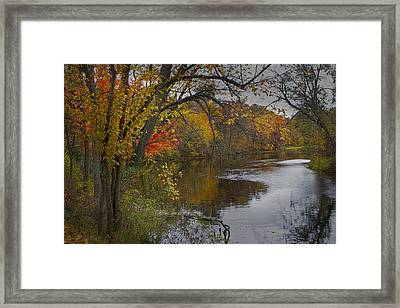 Autumn Scene Of The Flat River Framed Print by Randall Nyhof