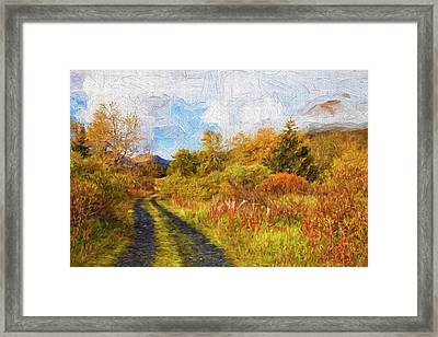 Autumn Scenic Oil Painting Framed Print by Marion Owen