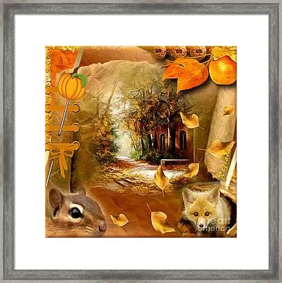 Autumn Scrap Framed Print by Giada Rossi