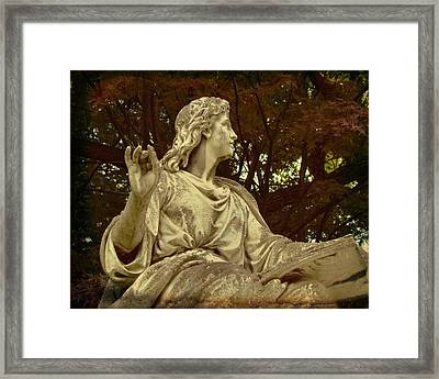 Red Autumn Sculpture Framed Print by Gothicrow Images