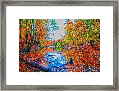 Autumn Season At A Lake Framed Print by Alex Grichenko