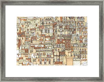Autumn Shaded Arabian Cityscape Framed Print by Adendorff Design