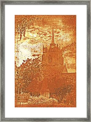 Framed Print featuring the digital art Autumn Shades by Fine Art By Andrew David