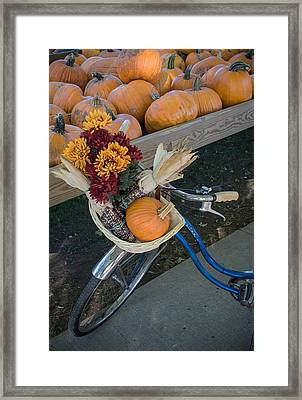 Framed Print featuring the photograph Autumn Shopping by Wayne Meyer