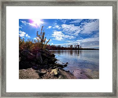 Autumn Shores Framed Print