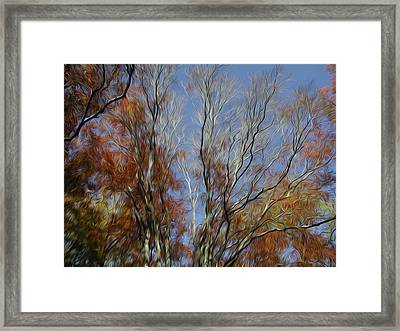 Framed Print featuring the digital art Autumn Sky by Kelvin Booker