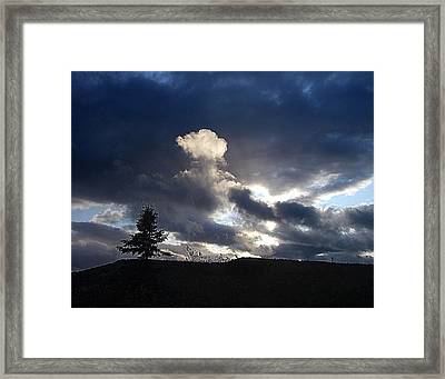 Autumn Sky On Cape Smokey Framed Print by George Cousins