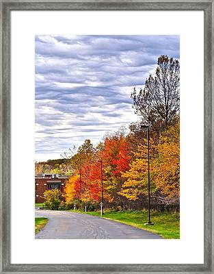 Autumn Sky Framed Print by Frozen in Time Fine Art Photography